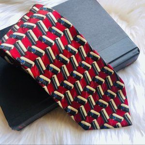 Valentino // Red Silk Neck Tie
